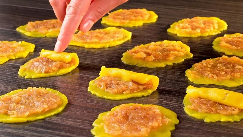 Достаточно смазать тесто яблочным джемом… Потрясающий результат