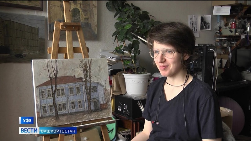 «Многоэтажки растут там, где захочет художник»: уфимка рисует индустриальные пейзажи