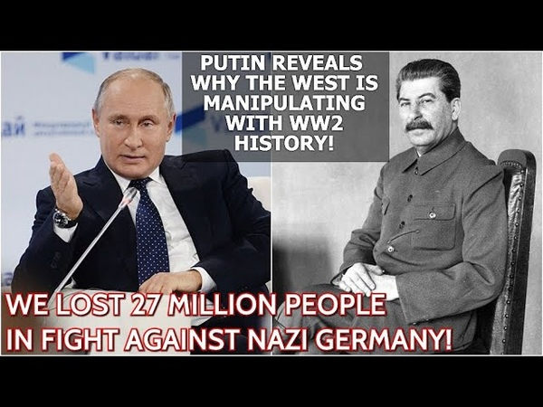 Putin Stalin's Repressions Is A Black Page In Our History But Blaming Him For WW2 Is Utter Cynicism