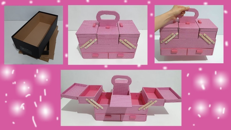 THE BEST DIY ORGANIZER BOX BEST OUT OF WASTE SHOE BOX