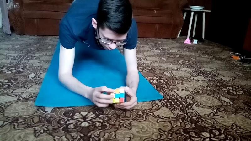 Сборка кубика рубика в планке