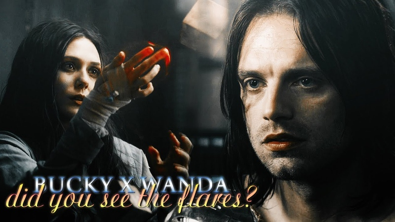 » did you see the flares? (bucky barnes x wanda maximoff)