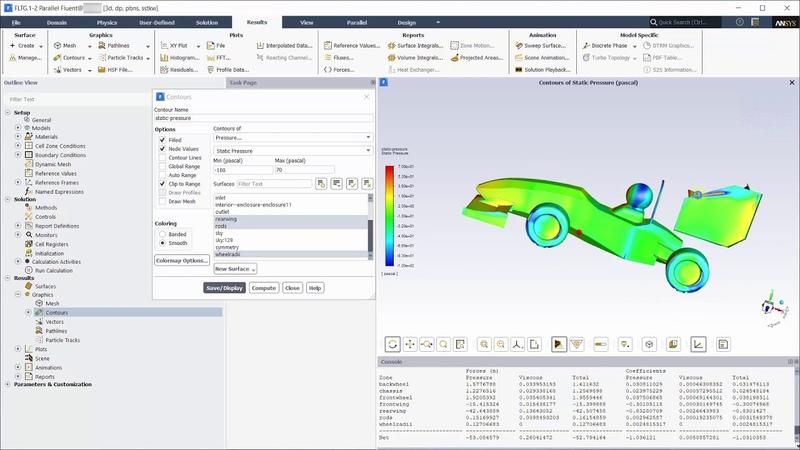 Aerodynamics of a FSAE Car Post processing in Fluent Part 4