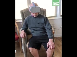 Elderly liverpool fan suffers from dementia, but was transported back to the kop using vr technology...