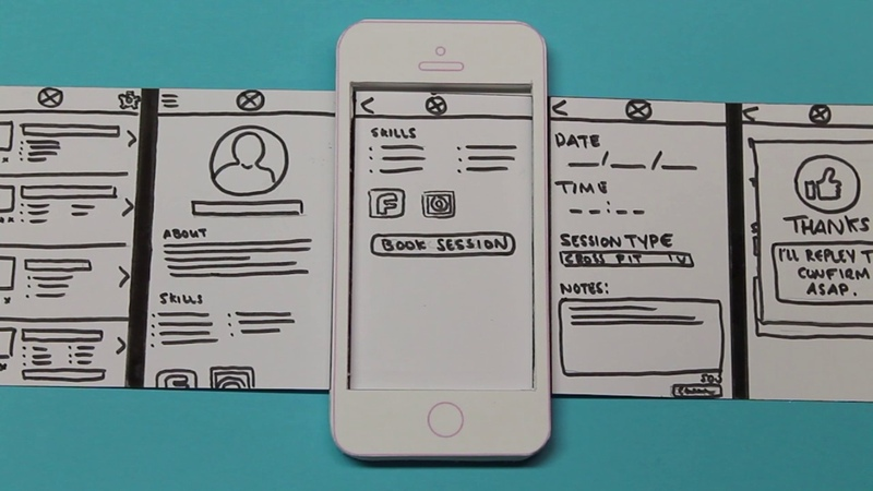 Mobile Application Design Paper Prototype Video