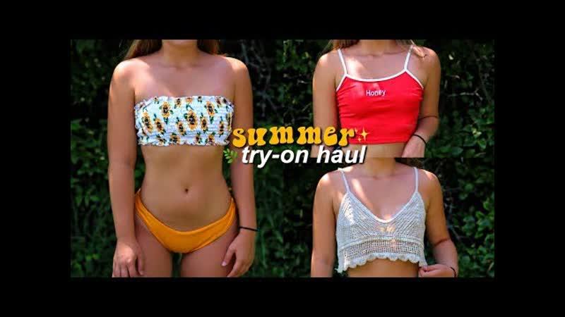 Sara E try on bikini summer clothing haul zaful