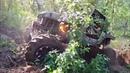 Адские горки Антон в огне Jeep yj on unimog axels patrol on 42'