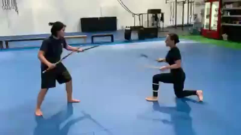 Sisi Stringer training for her role as Mileena in the upcoming Mortal Kombat movie ️️ Instagram sisistringer MortalKombat m