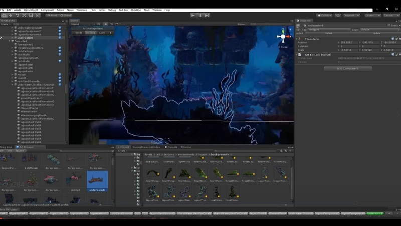 Ori and the Will of the Wisps making of Level Art for Luma Pools Scene B