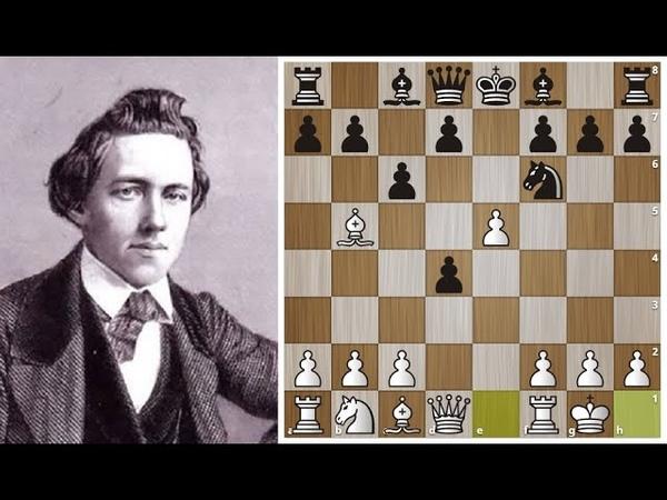 Пол Морфи громит Андерсена в 20 ходов в Испанке Шахматы