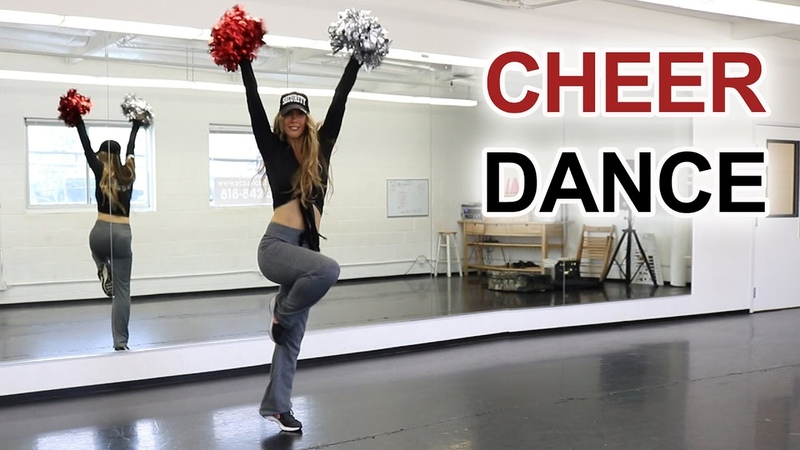 Cheer dance routine step by step cheerleading dance tutorial pom poms