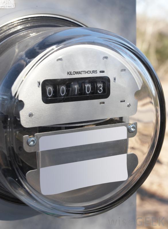 Residential electric meter.