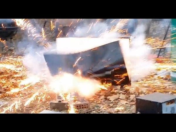 LCD TV vs Mortar Shell Vizio 50 E500i A1 Destruction part 4