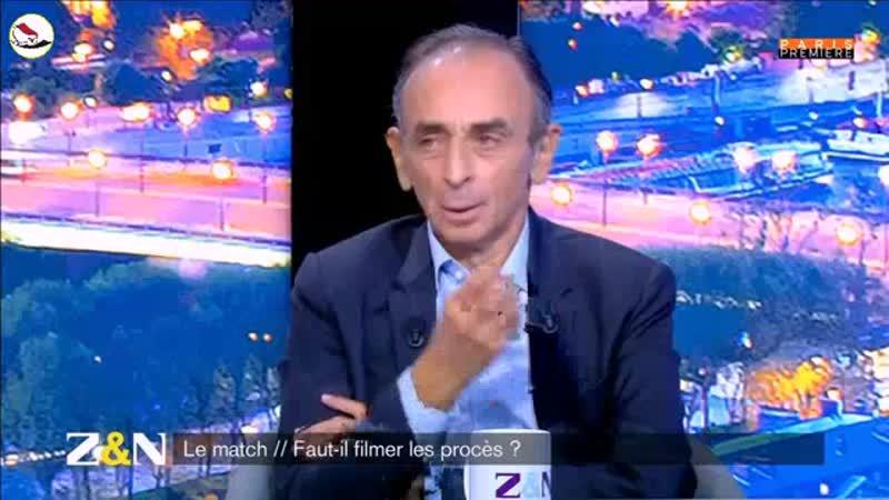 Eric Zemmour sur l'intention de Dupont Morreti de faire filmer tous les procès