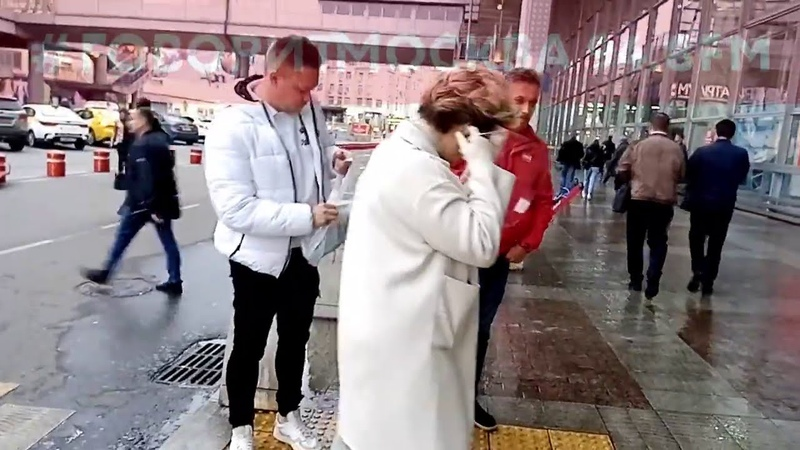 Малышева появилась без маски на Курском вокзале