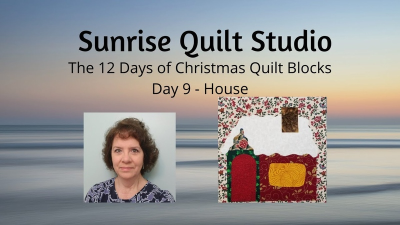 House - The 12 Days of Christmas Quilt Blocks - Day 9
