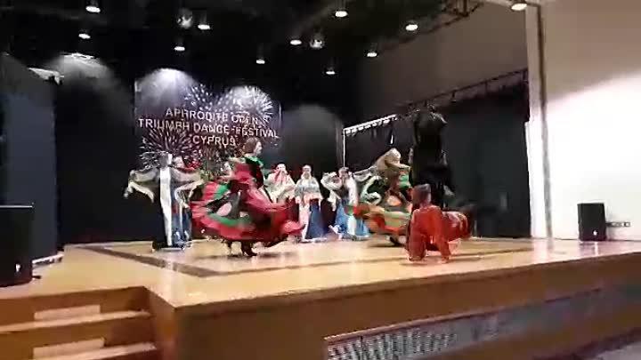Гран при в возрастной категории заработали наши Ягодки старшая группа с номером Коробейники на конкурсе хореографии в Лимассоле Кипра