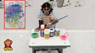 Artist YoYo JR draw his first picture