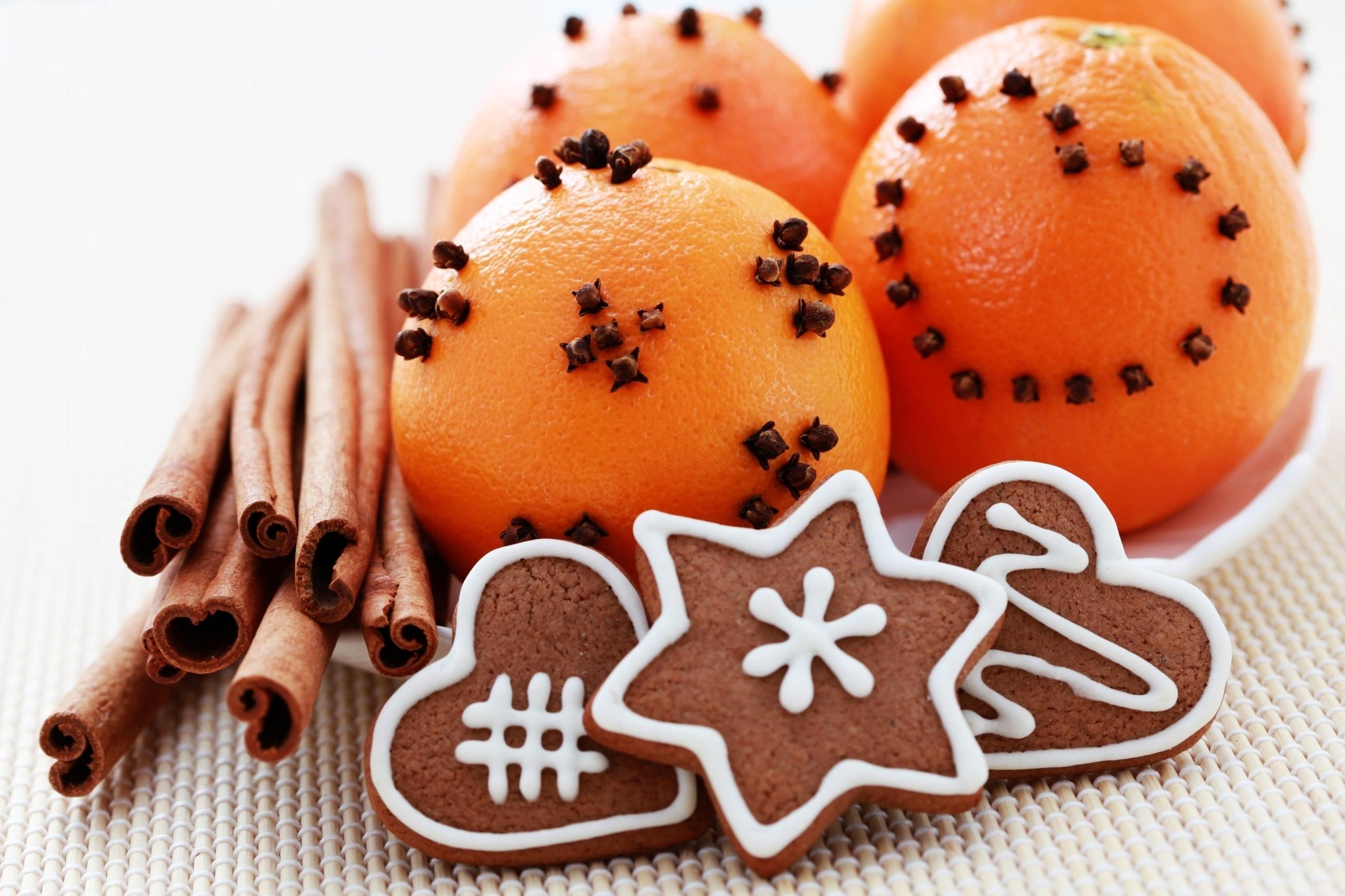 апельсины корица имбирные пряники