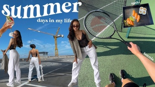 summer days in my life !! self care, insta photoshoot & tennis 🎾