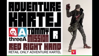 3A TOMMY RED Adventure Kartel onesixscale action figure Ashley wood ThreeA Unboxing review