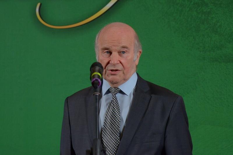 С.М.Некрасов приветствует гостей церемонии