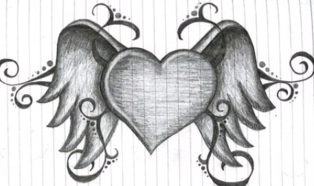 drawings of hearts - 779×471