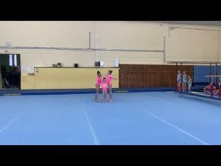 Наумова Милена, Валеева Лилия, Кузнецова Мария 1 юношеский разряд  2 упражнение
