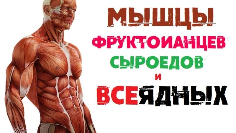 Мышцы на Сыроедении, Фрукторианстве и на Всеядном Питании | Накачаться на Фруктах | Веганство