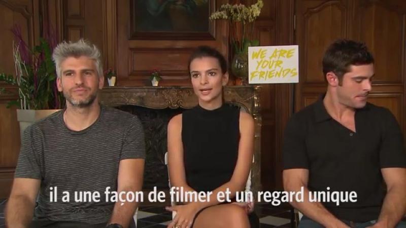 Emma rencontre Zac Efron, Emily Ratajkowski et Max Joseph pour WAYF