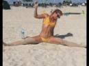 Katarina Konow stretching at South Beach