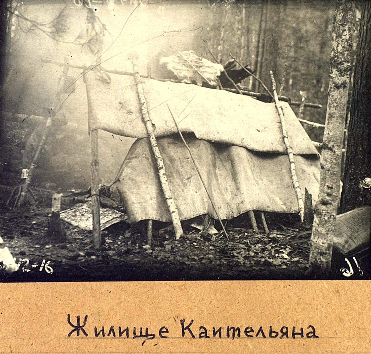 Жилище охотника Коительяна. Эвенки (тунгусы). Омская область, Тарский район. 1926. № 3542-16.