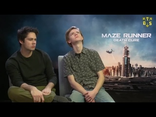 """[TBSubs] Интервью """"SciFiNow"""" с кастом """"Maze Runner: The Death Cure"""" (Дилан, Томас) (рус.саб)"""