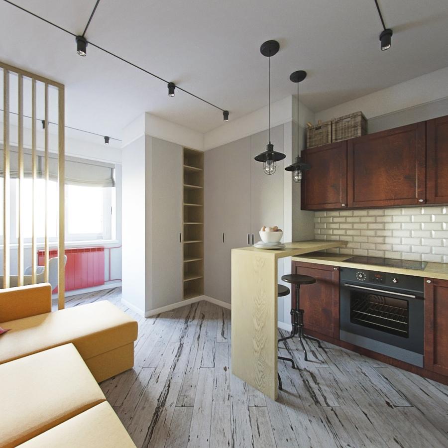 Проект квартиры почти 26 м.