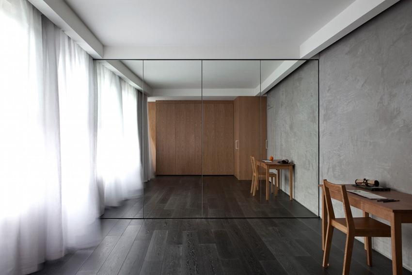 Аскетичная квартира 26 м в Лондоне со скрытой кухней и откидной кроватью.