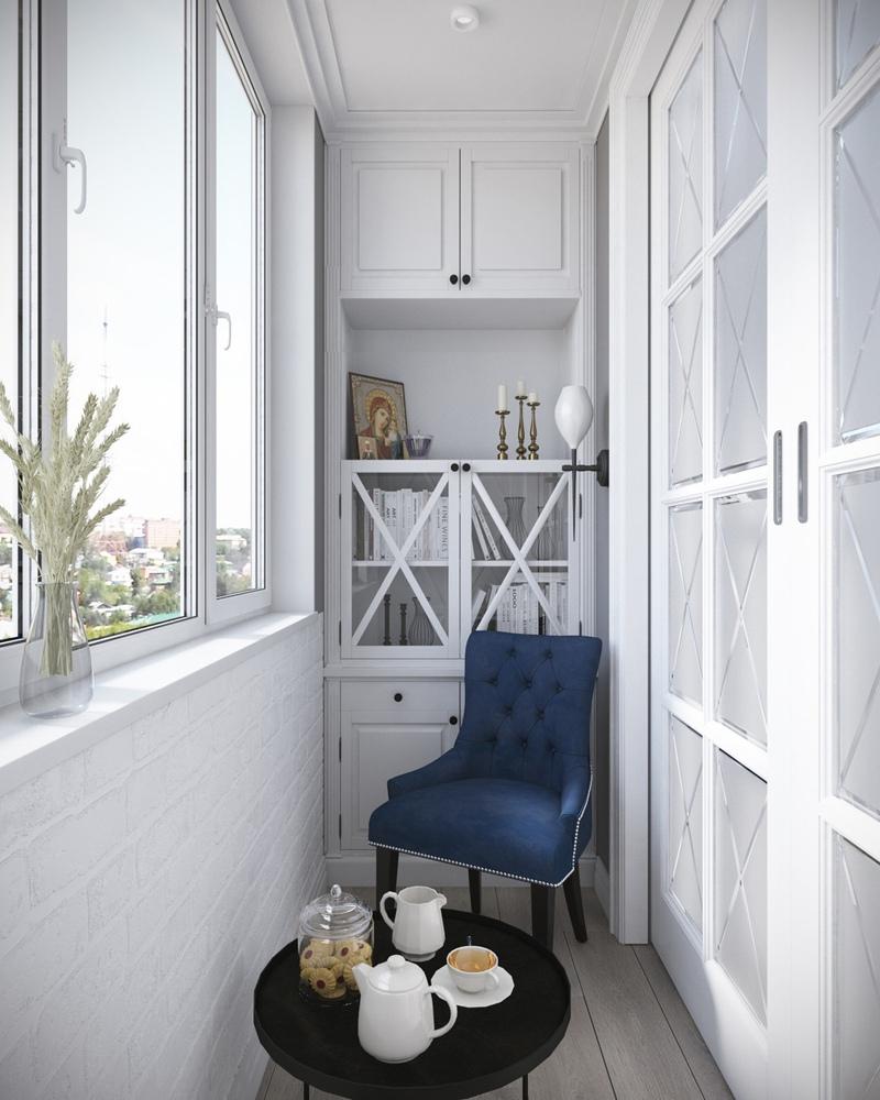 Концепт квартиры-студии 26 м (с балконом – 29 м).