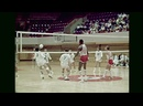 Wilt Chamberlain and the Big Dippers Play Volleyball at Moody Coliseum - August