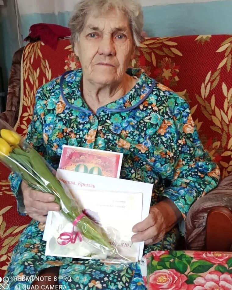 Сегодня двойной праздник - день 8 Марта и 90-летний юбилей отмечает петровчанка Нина Фёдоровна СЫРОВА