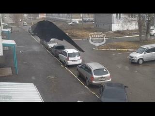 Момент падения на машину
