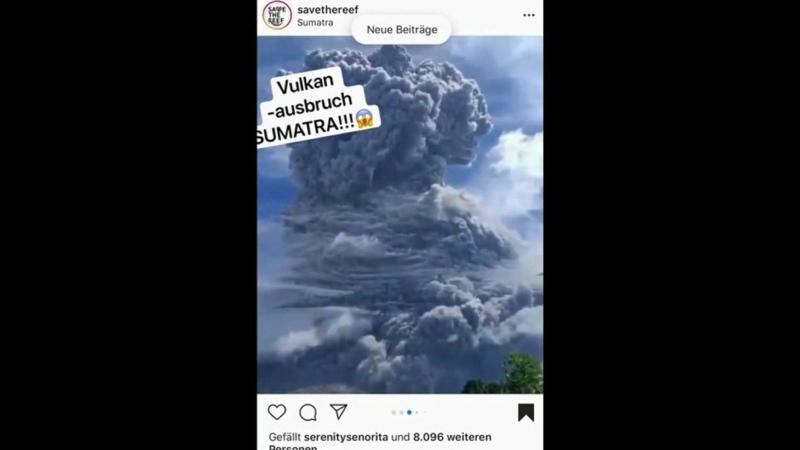 HAARP in Aktion Indonesien Der Vulkanberg Sinabung in Sumatra brach am Montag den 10 August 2020 um 16 00 Uhr Ortszeit