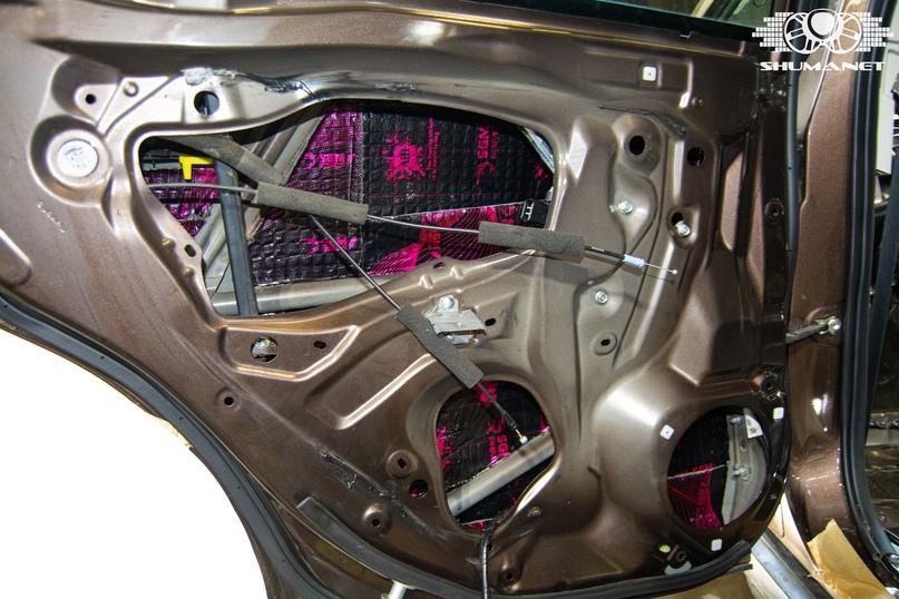 Комплексная шумоизоляция салона Subaru Outback., изображение №9