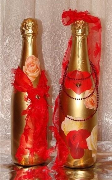 Идеи декорирования бутылок для украшения интерьера и подарков