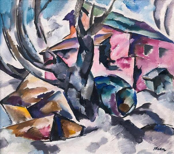 Бори́с Алекса́ндрович Такке (18891951) русский советский художник, плакатист, график. ПЕЙЗАЖ. 1910-е ()Холст,