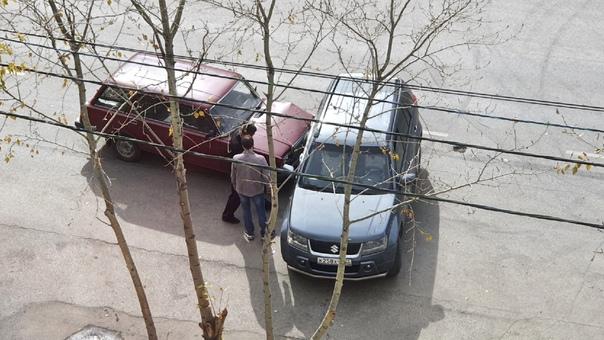Очередная авария на ул.Лесная напротив магазина