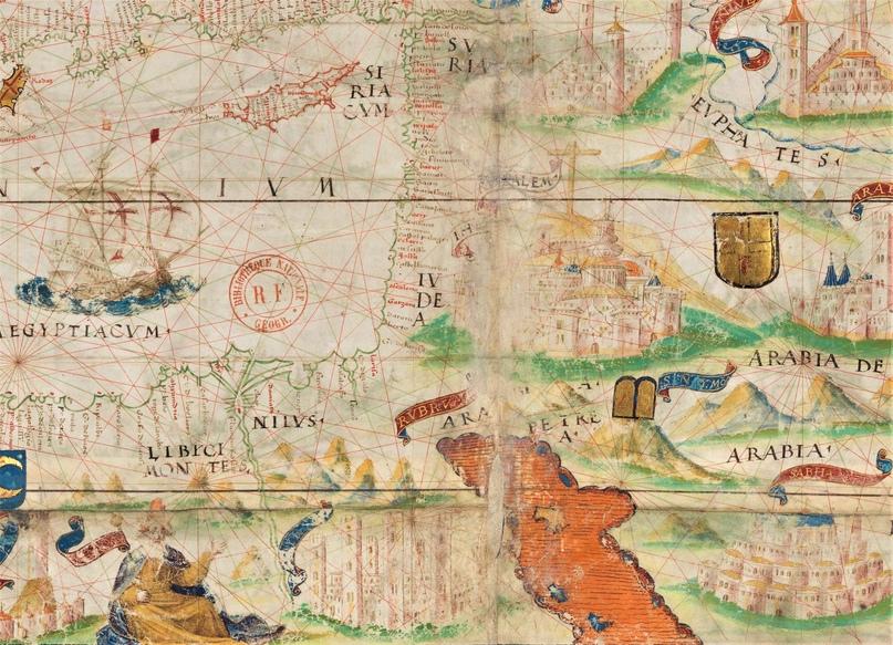 Красное Красное море :) Фрагмент карты из Атласа Миллера (1519)