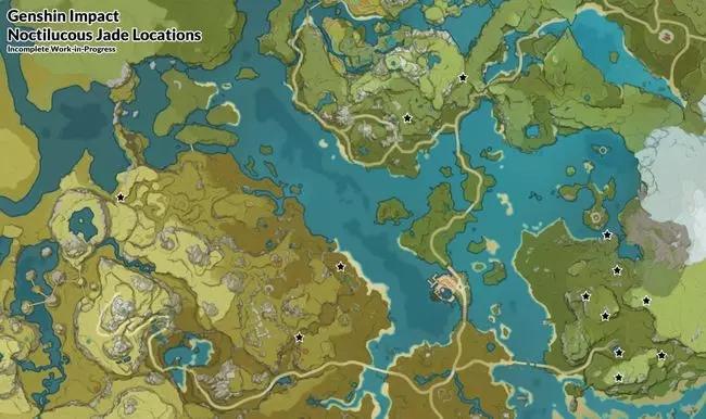 полуночный нефрит genshin impact где найти карта