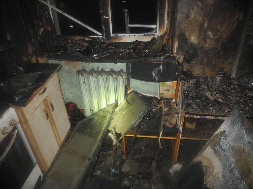 В центре Гомеля ночью горела квартира. Обошлось без жертв