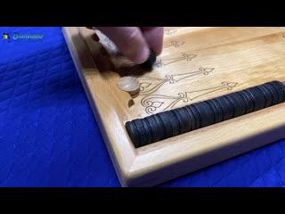 Нарды малые wgn122   Резные нарды деревянные