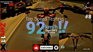 Zero 11X 2020 #8/ Top Speed Test #1 / 400m++/ DUAL GPS 92km/h max!/ GoPro Hero 7 Black/ 4K Superview