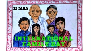 How to draw international family day easy step by step II Easy tips to draw international family day